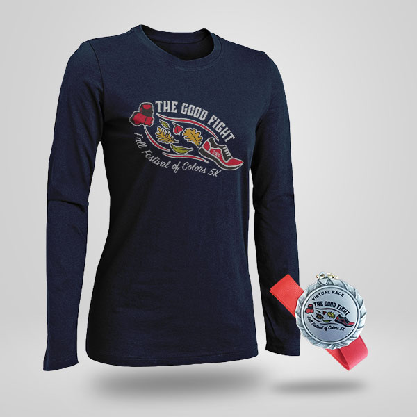 The Good Fight Fall Festival of Colors 5K - Virtual Run/Walk T-Shirt and Medal for 2020