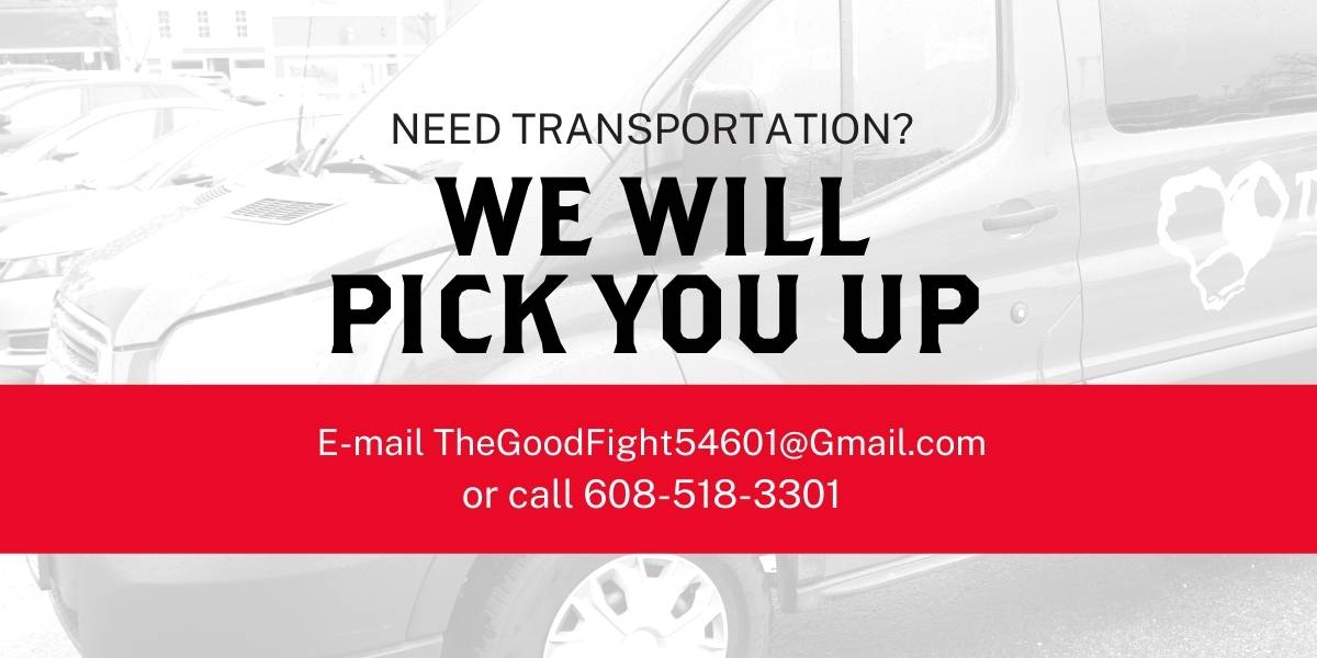 Need transportation? The Good Fight will pick you up!